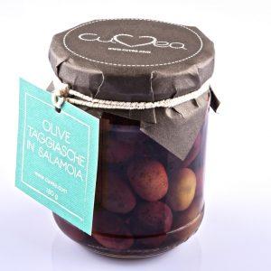 Taggiasche Oliven in Salzlake