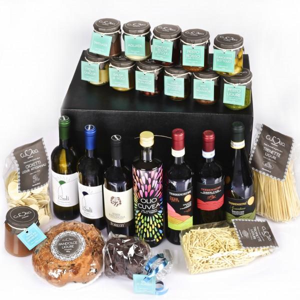 Geschenkkorb mit den besten ligurischen Spezialitäten online zum Verkauf
